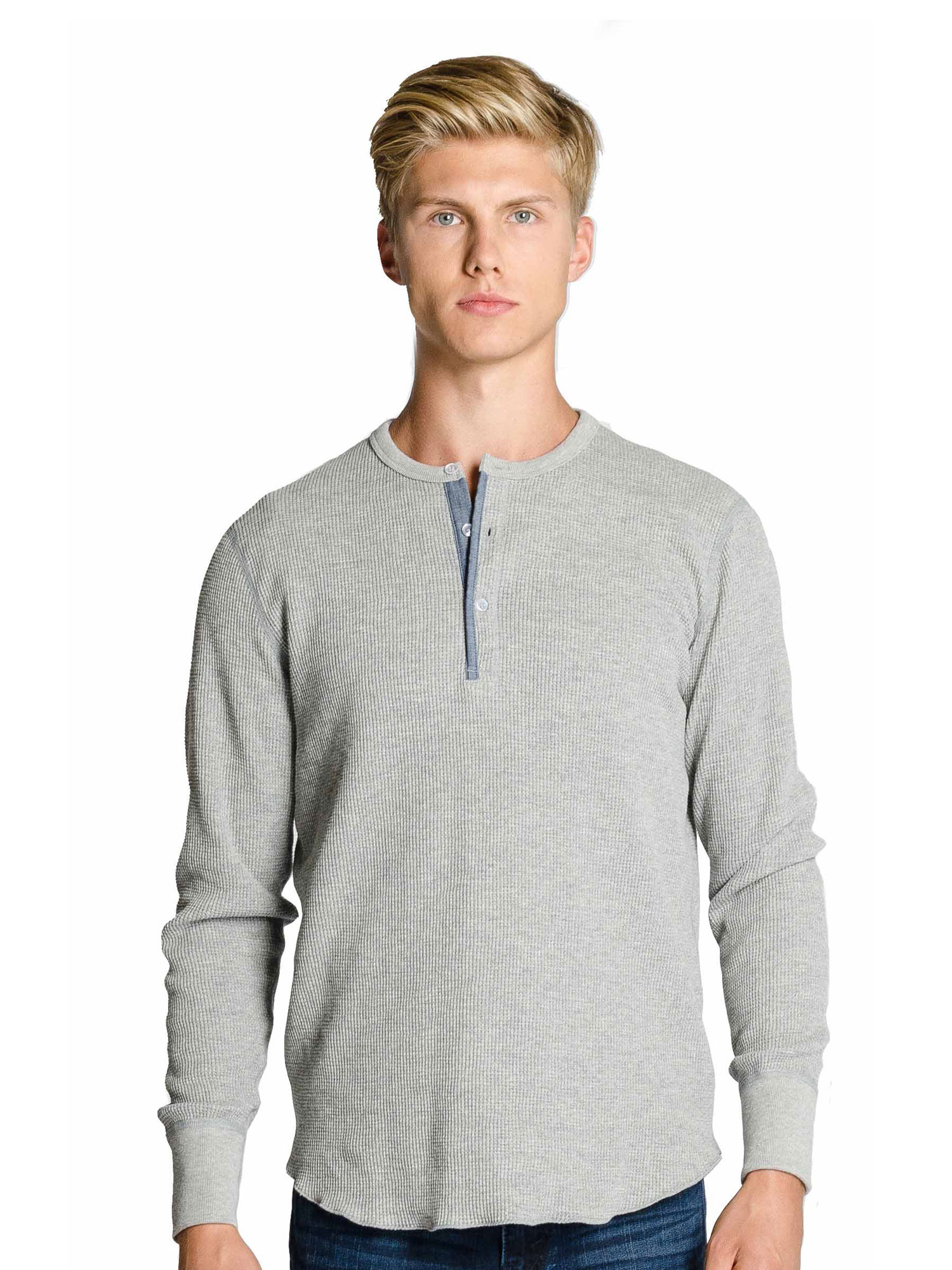 Thermal Waffle Henley Go North Print